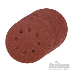 Hook & Loop Sanding Disc 10pk - 125mm 100 Grit