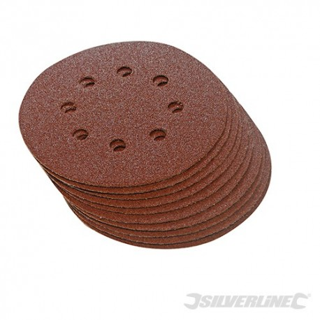 Hook & Loop Discs Punched 115mm 10pk - 115mm 60 Grit