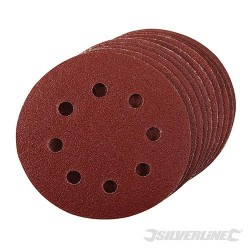Hook & Loop Discs Punched 115mm 10pk - 80 Grit