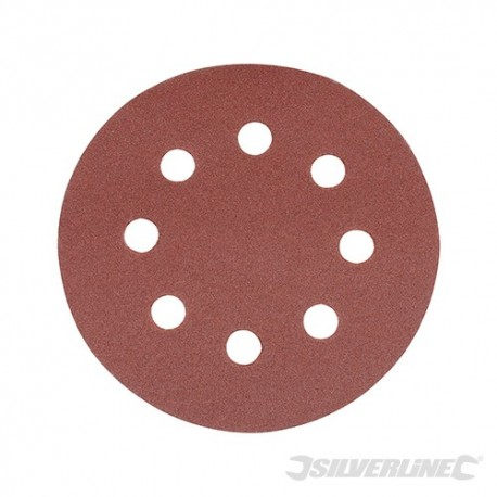 Hook & Loop Discs Punched 115mm 10pk - 115mm 240 Grit