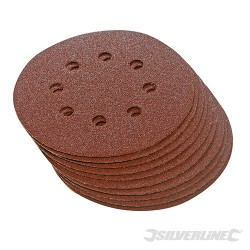 Hook & Loop Discs Punched 125mm 10pk - 125mm 60 Grit
