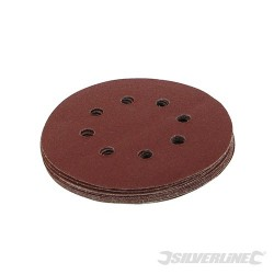 Hook & Loop Discs Punched 125mm 10pk - 80 Grit