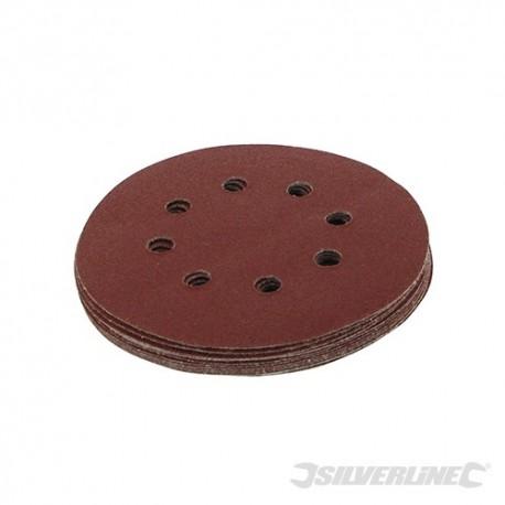 Hook & Loop Discs Punched 125mm 10pk - 125mm 80 Grit