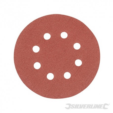 Hook & Loop Discs Punched 125mm 10pk - 125mm 120 Grit