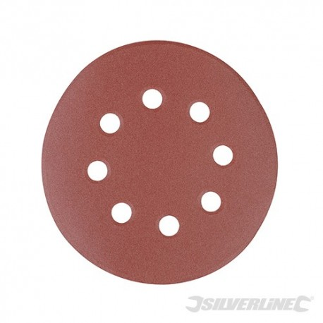Hook & Loop Discs Punched 125mm 10pk - 125mm 240 Grit