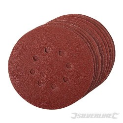 Hook & Loop Discs Punched 150mm 10pk - 150mm 60 Grit
