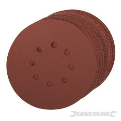 Hook & Loop Discs Punched 150mm 10pce - 150mm 4 x 60, 2 x 80, 120, 240G