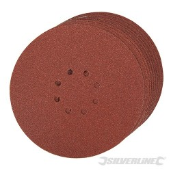 Hook & Loop Discs Punched 225mm 10pk - 225mm 60 Grit