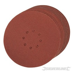 Hook & Loop Discs Punched 225mm 10pk - 225mm 80 Grit