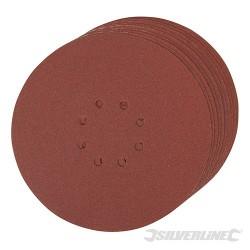 Hook & Loop Discs Punched 225mm 10pk - 120 Grit