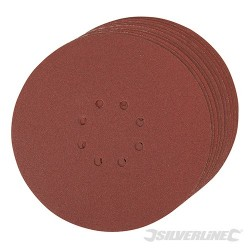 Hook & Loop Discs Punched 225mm 10pk - 120 Grit