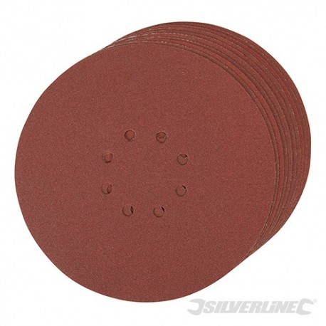 Hook & Loop Discs Punched 225mm 10pk - 225mm 120 Grit