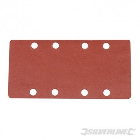 Brusný papír perforovaný (na 1/3 papíru), se suchým zipem - 10 kusů - 240 Grit