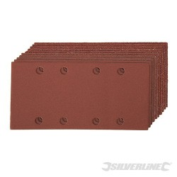 Hook & Loop 1/3 Sheets Punched 10pce - 2 x 60, 3 x 80, 120, 2 x 240G