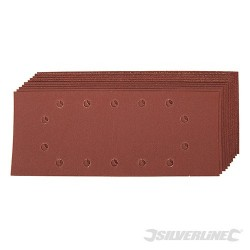 1/2 Sanding Sheets Punched 10pce - 2 x 60, 3 x 80, 120, 2 x 240G