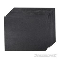 Brusné papíry na mokrý i suchý podklad - 10 kusů - 120 Grit