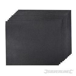 Brusné papíry na mokrý i suchý podklad - 10 kusů - 180 Grit