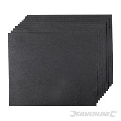 Brusné papíry na mokrý i suchý podklad - 10 kusů - 240 Grit