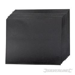 Brusné papíry na mokrý i suchý podklad - 10 kusů - 400 Grit