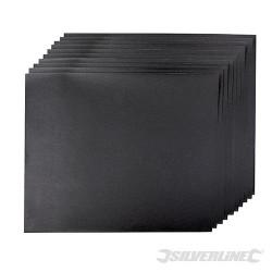 Brusné papíry na mokrý i suchý podklad - 10 kusů - 600 Grit