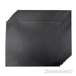 Brusné papíry na mokrý i suchý podklad - 10 kusů - 1200 Grit