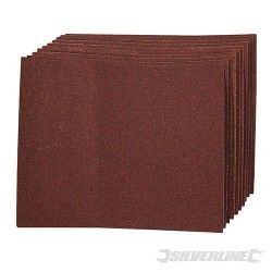 Aluminium Oxide Hand Sheets 10pk - 60 Grit