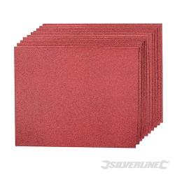 Brusné papíry pro broušení rukou - 10 kusů - 80 Grit