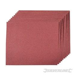 Brusné papíry pro broušení rukou - 10 kusů - 120 Grit