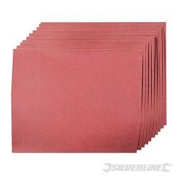 Aluminium Oxide Hand Sheets 10pk - 180 Grit