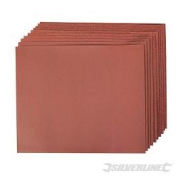 Aluminium Oxide Hand Sheets 10pce - 4 x 60, 2 x 80, 120, 240G