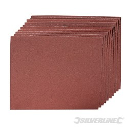 Emery Cloth Sheets 10pk - 180 Grit