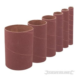 90mm Bobbin Sleeve Set 6pce - 90mm 120 Grit