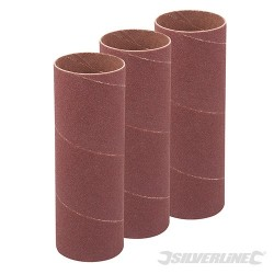 90mm Bobbin Sleeves 3pk - 38mm 80 Grit