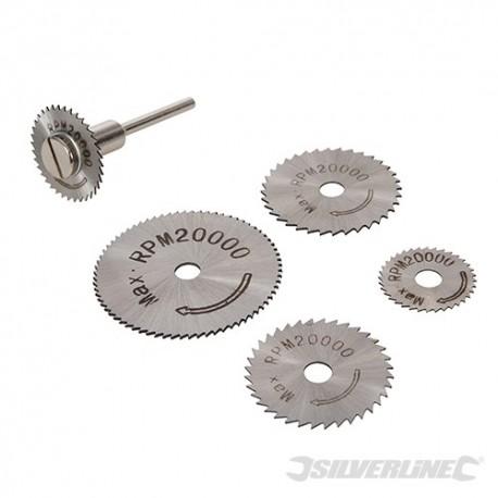 Silverline HSS Saw Disc Set 6pce - 22, 25, 32, 35 & 44mm 289305 5024763163968