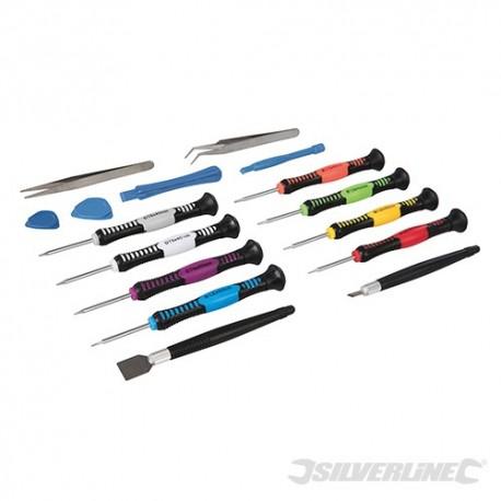 Silverline Precision Phone Repair Kit 16pce - 16pce 850276 5024763158759