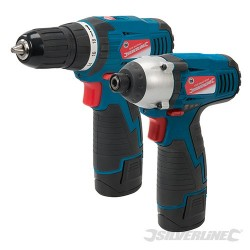 Silverstorm 10.8V Twin Pack Drill Driver & Impact Driver - 10.8V