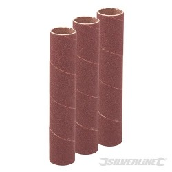 114mm Bobbin Sleeves 3pk - 19mm 80 Grit