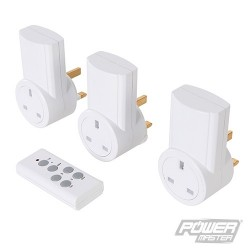 Wireless Remote Control Power Socket 230V 3pk - UK 10A 230V