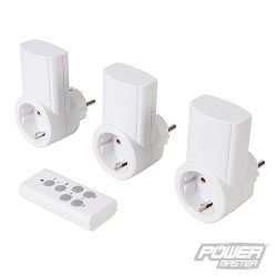 Wireless Remote Control Power Socket 230V 3pk - EU 13A 230V
