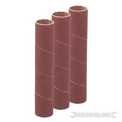 114mm Bobbin Sleeves 3pk - 19mm 120 Grit