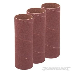 114mm Bobbin Sleeves 3pk - 38mm 80 Grit