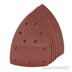 Hook & Loop Multi-Sander Sheets 102 x 62mm, 93mm 10pk - 120 Grit