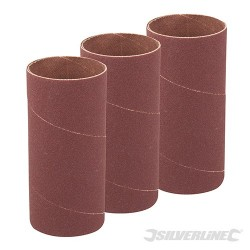 140mm Bobbin Sleeves 3pk - 51mm 80 Grit
