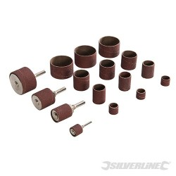 Drum Sanding Kit 20pce - 13, 19, 25, 38mm Dia