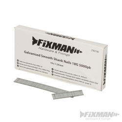 Galvanised Smooth Shank Nails 18G 5000pk - 10 x 1.25mm