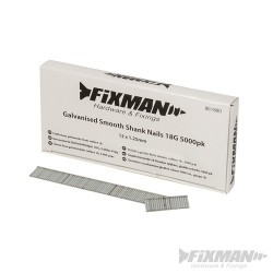 Galvanised Smooth Shank Nails 18G 5000pk - 12 x 1.25mm