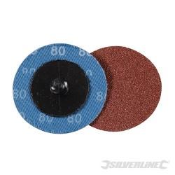Brusný papír 50 mm, rychlé nasazování - 5 kusů - 80 Grit