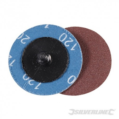 50mm Quick-Change Sanding Discs Set 5pce - 120 Grit