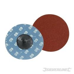 Brusný papír 75 mm, rychlé nasazování - 5 kusů - 60 Grit