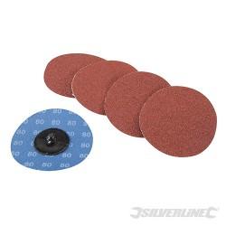 Zestaw dysków sciernych szybkiej wymiany 75 mm, 5 szt. - P 80